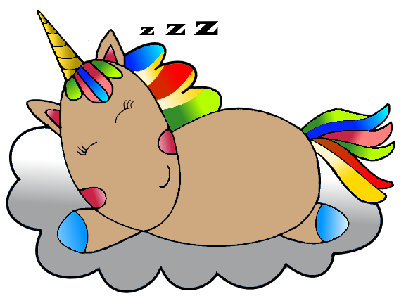 sleepy unicorn